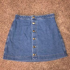 Women's American Apparel denim button down skirt
